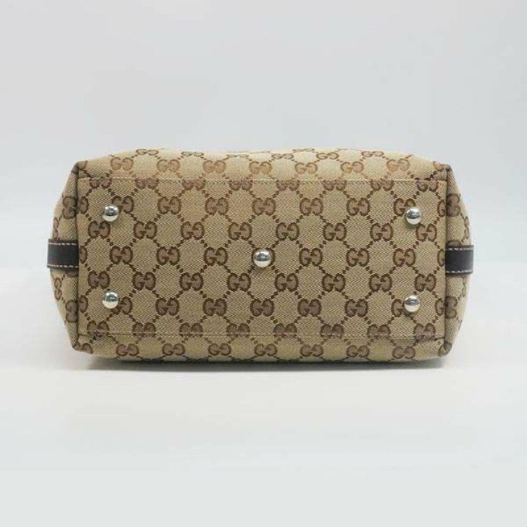 GUCCI Shelly Womens tote bag 232970 beige x brown In Good Condition For Sale In Takamatsu-shi, JP