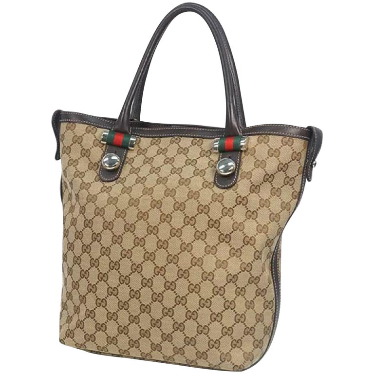 GUCCI Shelly Womens tote bag 232970 beige x brown For Sale