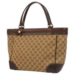 GUCCI Shelly Womens tote bag 257061 beige x brown