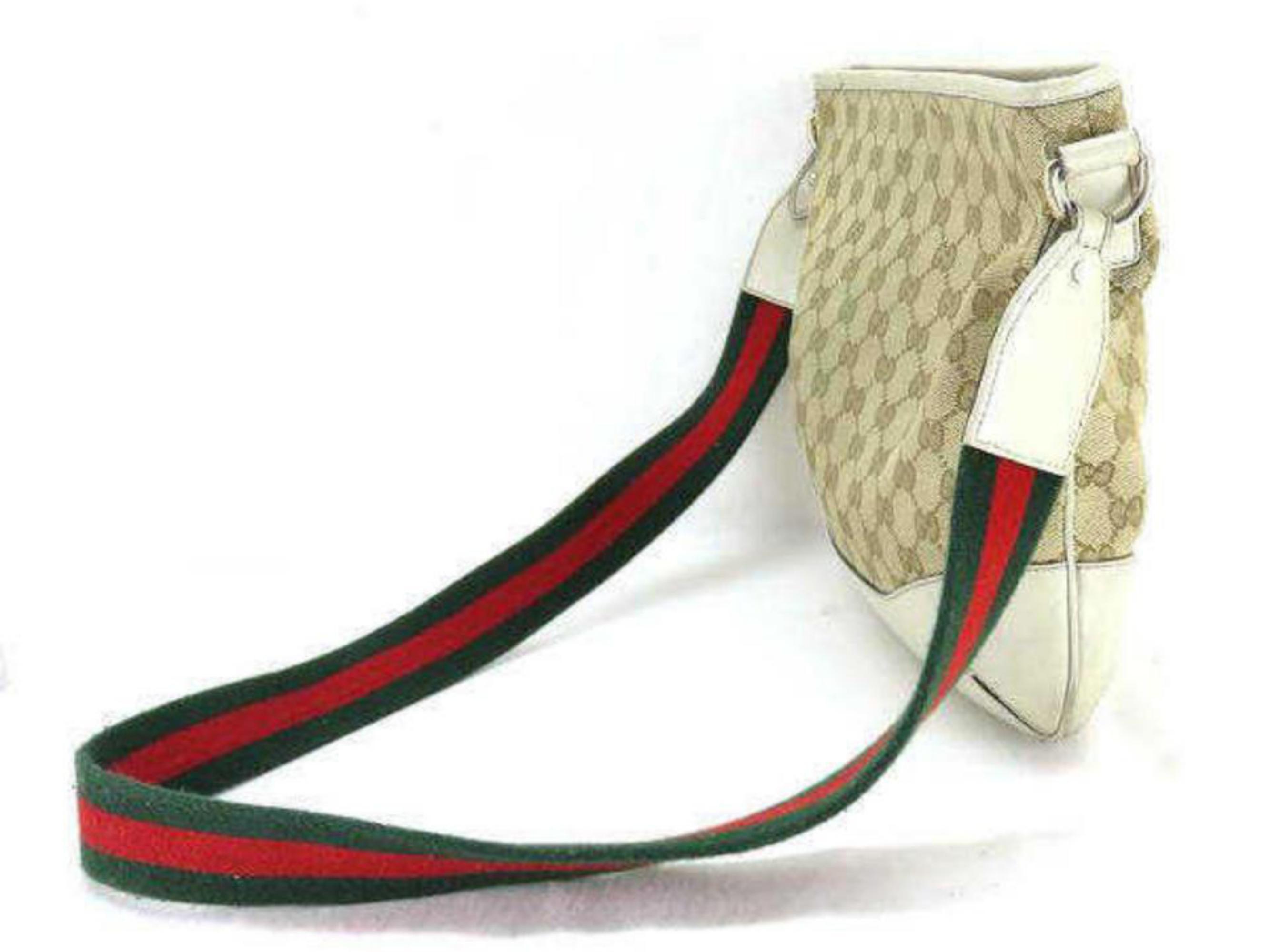 4d5d4233e8ff Gucci Sherry Monogram Web Messenger 230487 Beige Canvas Cross Body Bag at  1stdibs