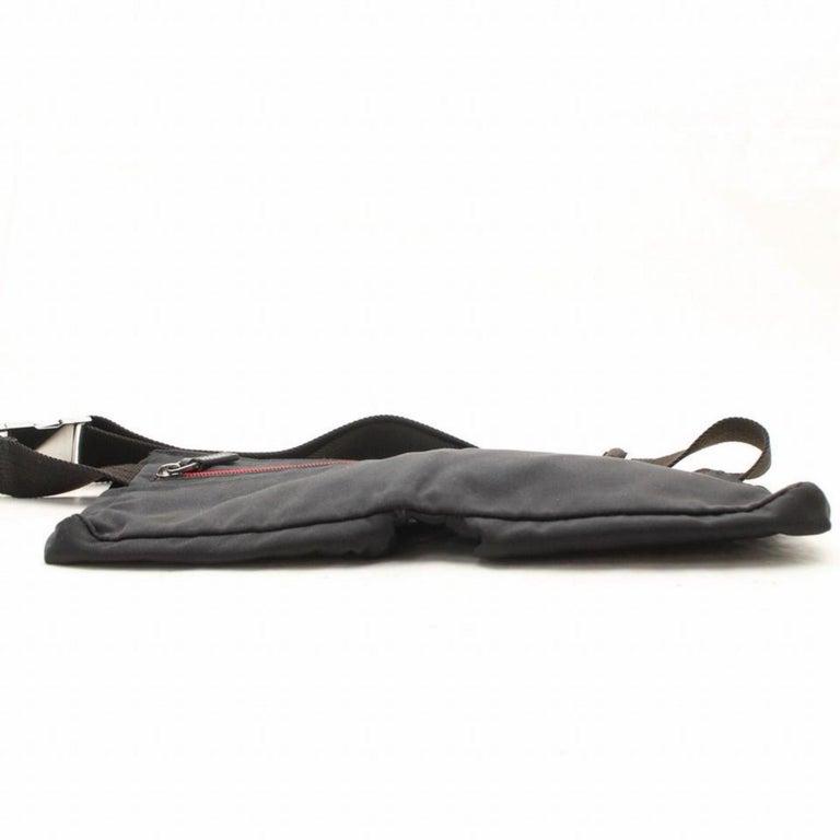 f7f95ef86f1 Gucci Sherry Web Fanny Pack Waist Pouch 868544 Black Nylon Cross Body Bag  For Sale 4