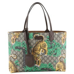 Gucci Shopping Tote Bengal Print GG Coated Canvas Medium