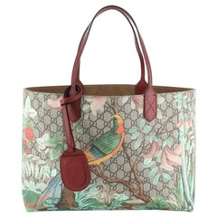 Gucci Shopping Tote Tian Print GG Coated Canvas Medium