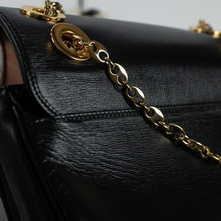 GUCCI Shoulder bag in Black Leather For Sale 11