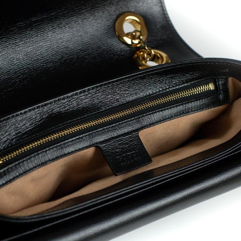 GUCCI Shoulder bag in Black Leather For Sale 1