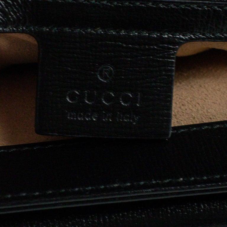 GUCCI Shoulder bag in Black Leather For Sale 2