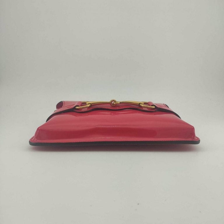 GUCCI Shoulder bag in Pink Patent leather For Sale 1