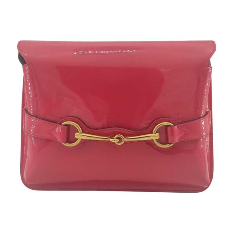 GUCCI Shoulder bag in Pink Patent leather For Sale