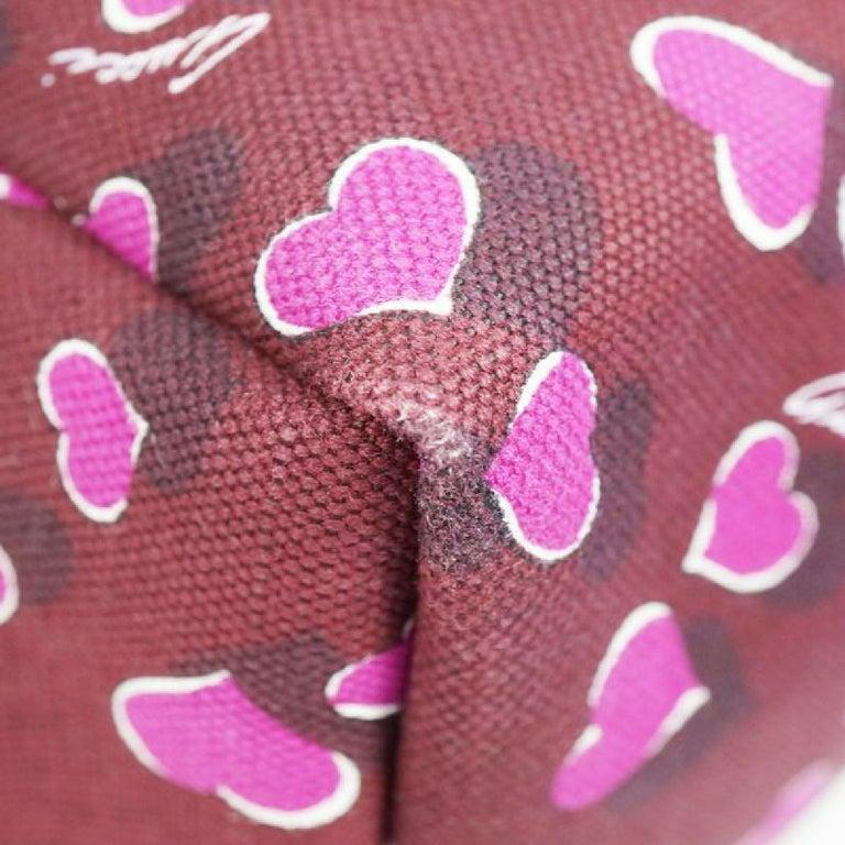 GUCCI shoulder tote heart Womens tote bag 282439 Bordeaux x white For Sale 1
