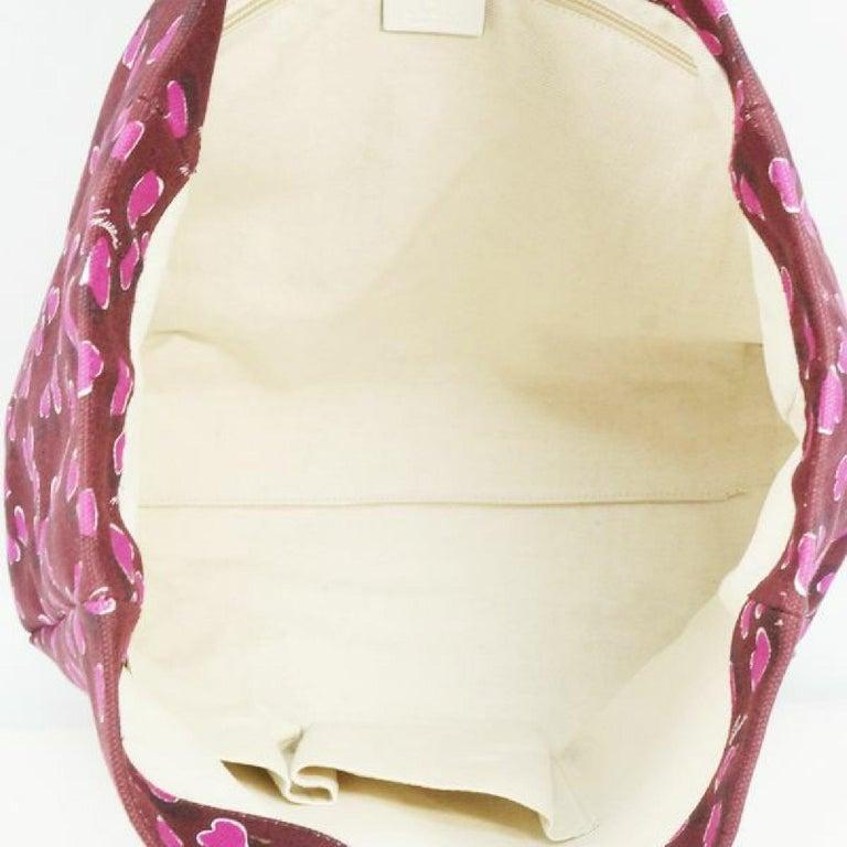 GUCCI shoulder tote heart Womens tote bag 282439 Bordeaux x white For Sale 4