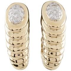 "Gucci ""Shrimp"" Vintage 18 Karat Yellow Gold Diamond Earrings"