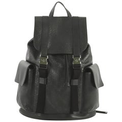 Gucci Signature Buckle Backpack Guccissima Leather
