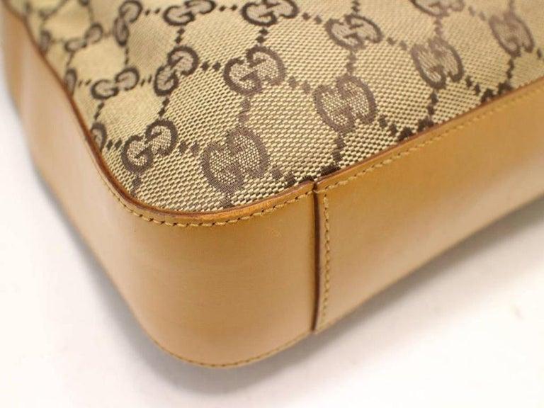 2446656bd0a612 Gucci Signature Monogram Gg Zip Hobo 229280 Brown Canvas Shoulder Bag For  Sale 5