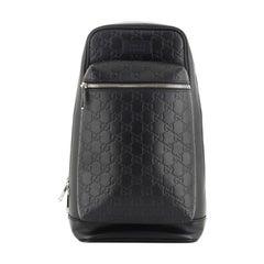 Gucci Signature Slim Crossbody Bag Guccissima Leather Small