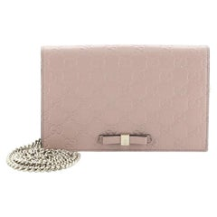 Gucci Signature Wallet on Chain Guccissima Leather