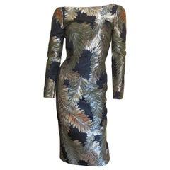 Gucci Silk Brocade Backless Dress
