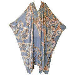 "Gucci Silk Chiffon ""Must Have"" Orig Italian Print Caftan Tunic Poncho"