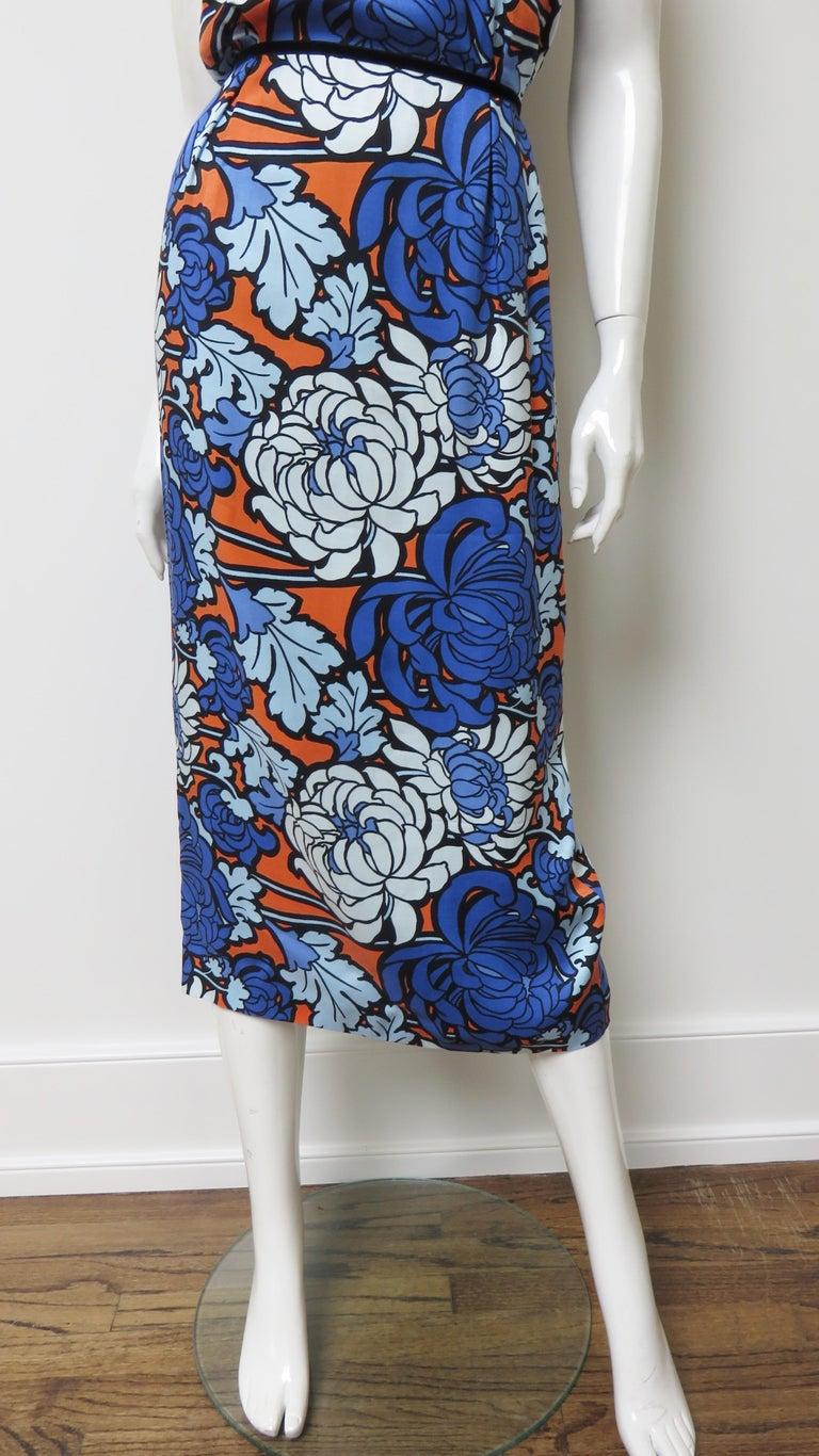 Gucci Silk Flower Print Dress For Sale 5