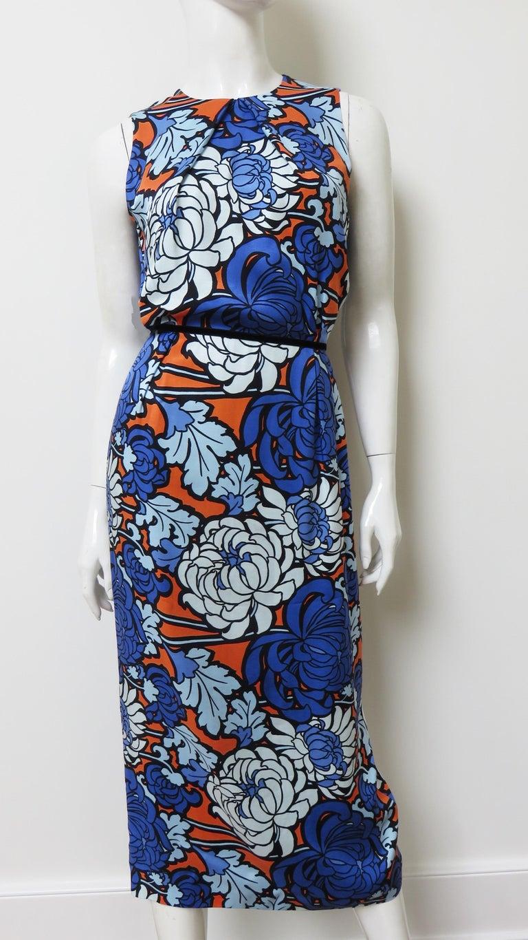 Gucci Silk Flower Print Dress For Sale 6