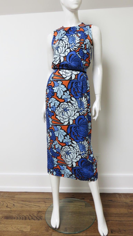 Gucci Silk Flower Print Dress For Sale 7