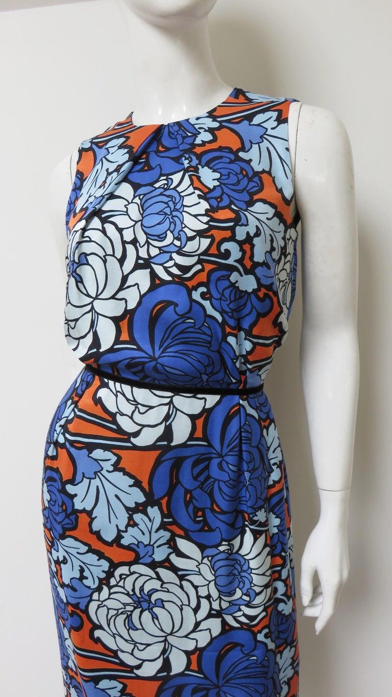 Gucci Silk Flower Print Dress For Sale 3
