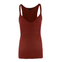 Gucci Silk Ribbed Tank Top S
