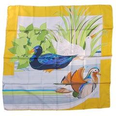 Gucci Silk Scarf BIRD Duck Never Worn 1990s
