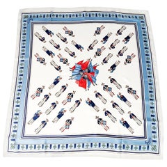Gucci Silk Scarf with Marching Band Motif
