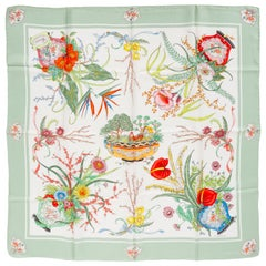 Gucci Silk Twill Floral Scarf Accornero