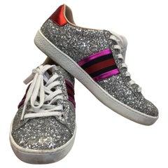 Gucci Silver Glitter Sneaker