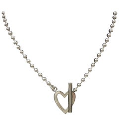 Gucci Silver Heart Toggle Necklace