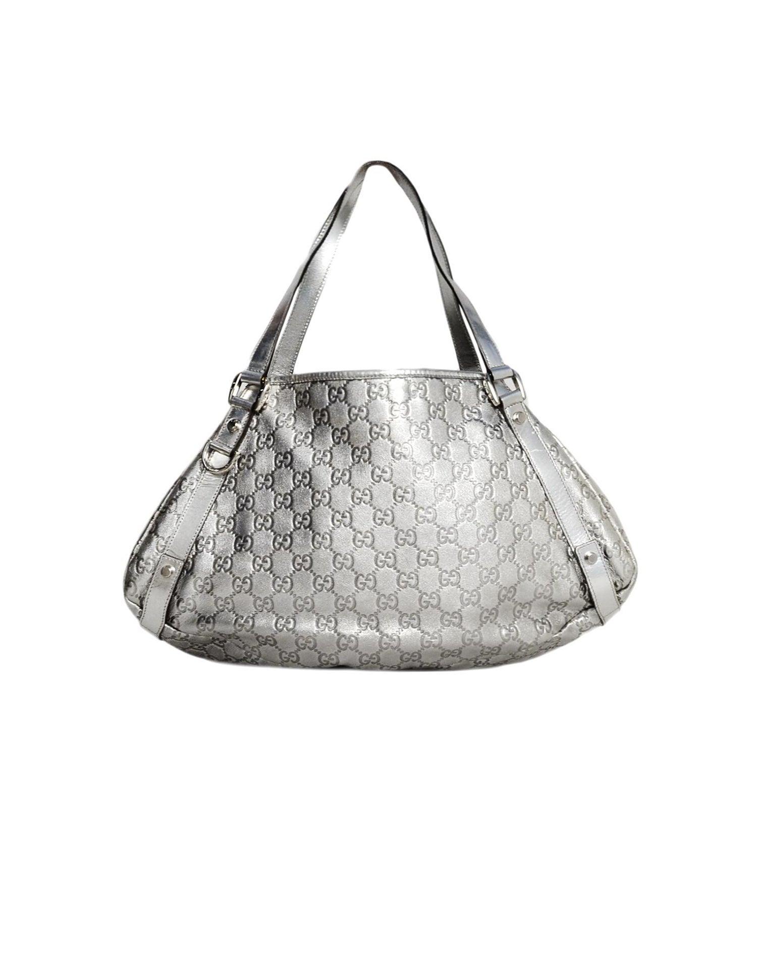 0f3d400584879d Gucci Silver Metallic Handbag - Foto Handbag All Collections ...