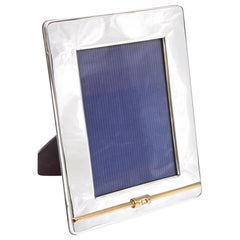 Gucci Silver Plate and 24-Carat Gold-Plated Picture Frame Vintage