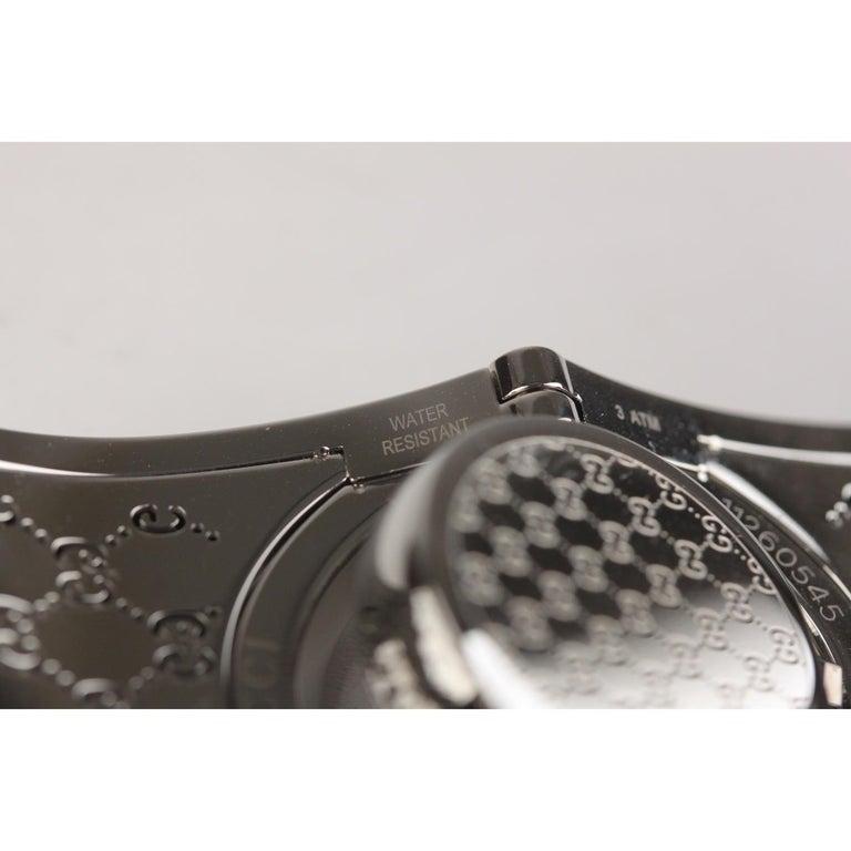 Gucci Silver Stainless Steel Diamonds Twirl Wrist Watch Bracelet Bangle For Sale 6