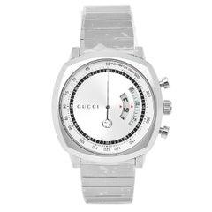 Gucci Silver Stainless Steel Grip YA157302 Men's Wristwatch 40 mm