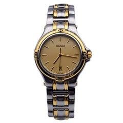 Gucci Silver Stainless Steel Mod 9040 M Quartz Wrist Watch