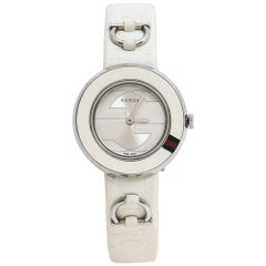 Gucci Silver Stainless Steel U-Play 129.5 Women's Wristwatch 27 mm
