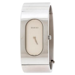 Gucci Silver Stainless Steel Vintage 2400L Women's Wristwatch 22 mm