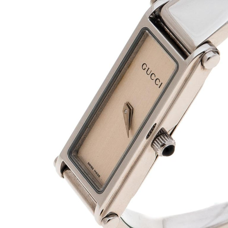 9f8662b7a8c Gucci Silver White Stainless Steel 1500L Women s Wristwatch 12MM For ...