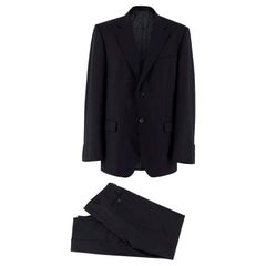 Gucci single-breasted black wool suit - Size XL EU 52
