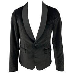 GUCCI Size 38 Regular Black Velvet Shawl Collar Sport Coat