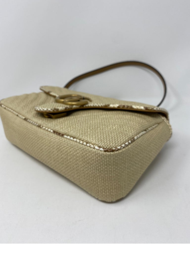 Gucci Small Marmont Straw Floral Interior Bag 8