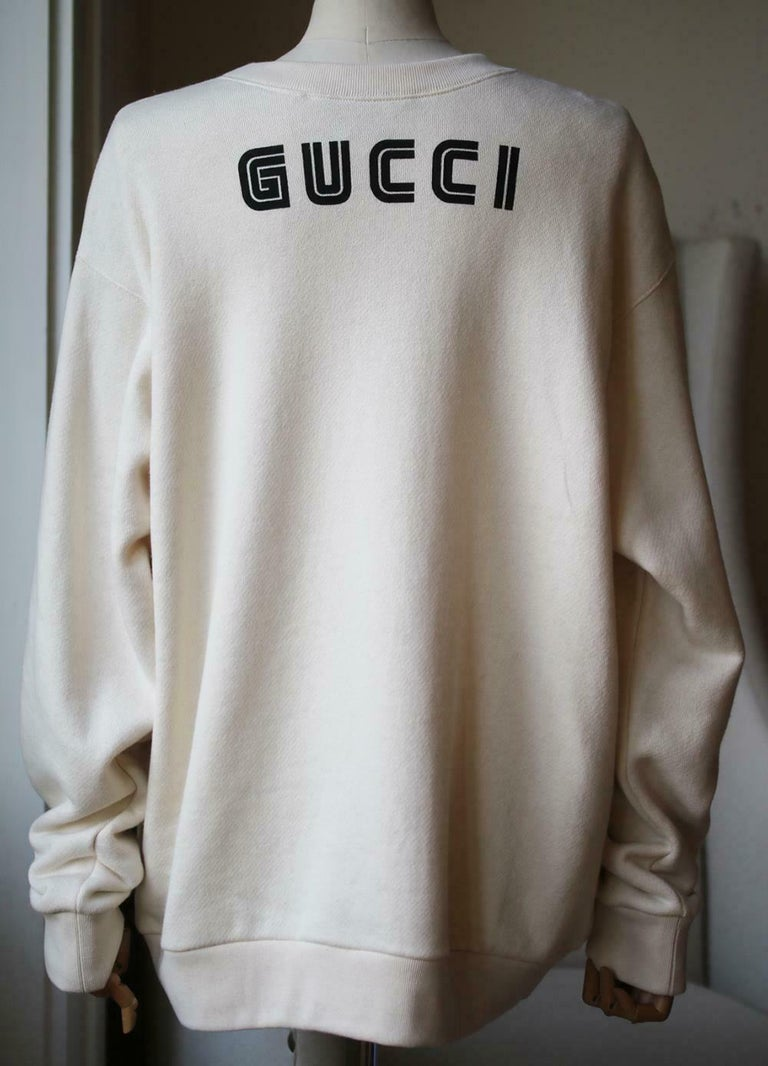 Women's Gucci Snow White Sequin-Embellished Cotton-Jersey Sweatshirt  For Sale