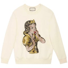 Gucci Snow White Sequin-Embellished Cotton-Jersey Sweatshirt