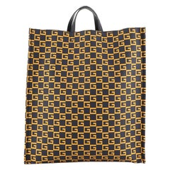 Gucci Soft Open Tote Printed Coated Canvas Tall