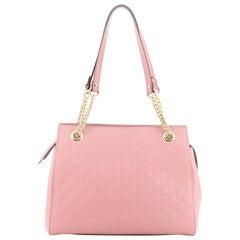 Gucci Soft Signature Shoulder Bag Guccissima Leather Medium