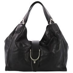 Gucci Soft Stirrup Tote Leather Large
