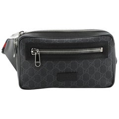 Gucci Soft Zip Belt Bag GG Coated Canvas Small