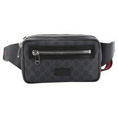 Gucci Soft Zip Belt Bag GG Coated Canvas Small