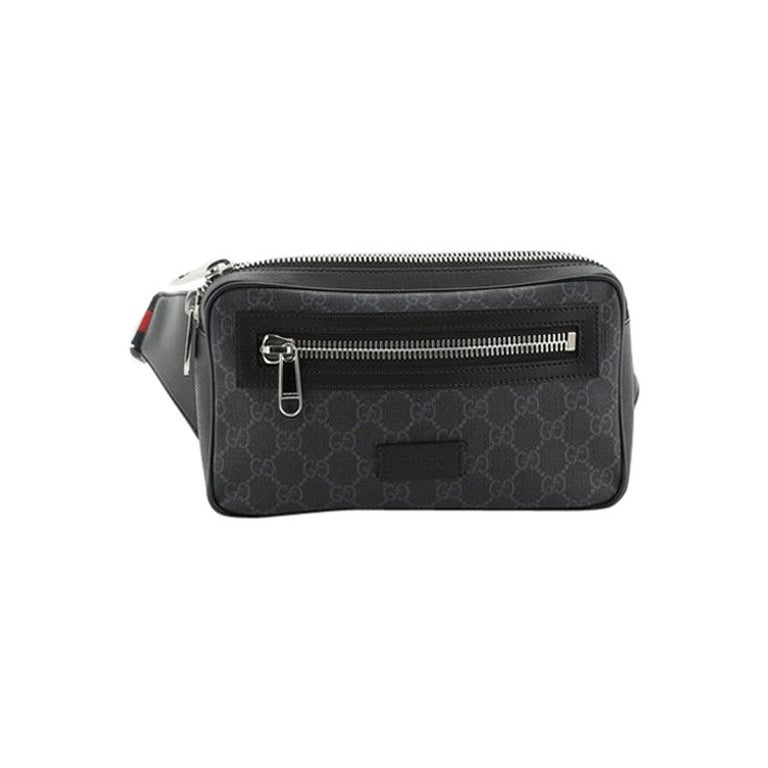 Gucci Soft Zip Belt Bag GG Coated Canvas Small For Sale